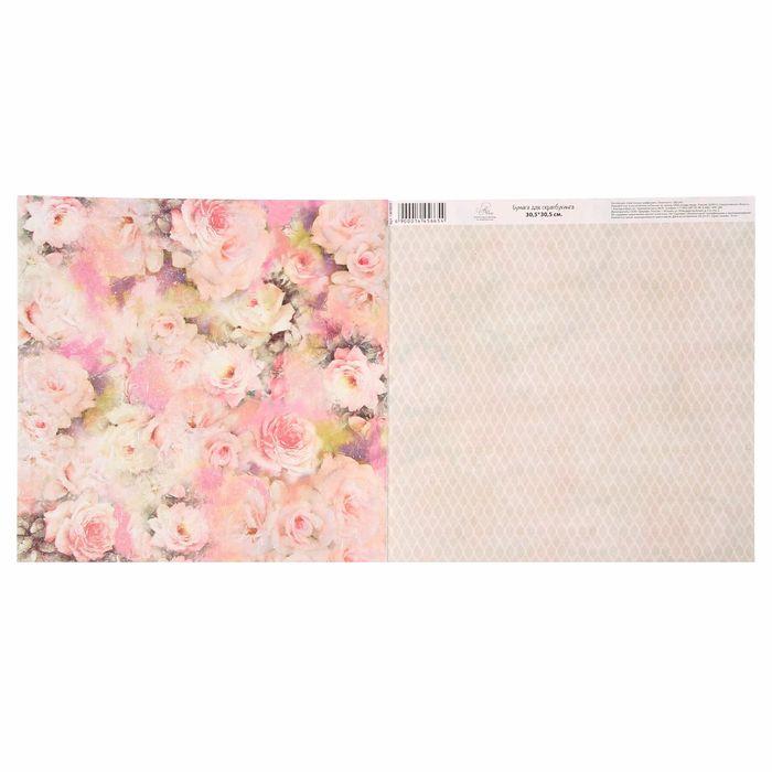 Бумага для скрапбукинга «Розы», 30.5 × 30.5 см, 180 г/м
