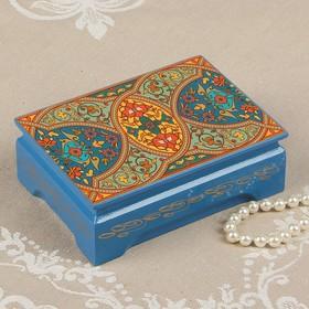 Шкатулка «Узбекские мотивы», 10×14 см, лаковая миниатюра