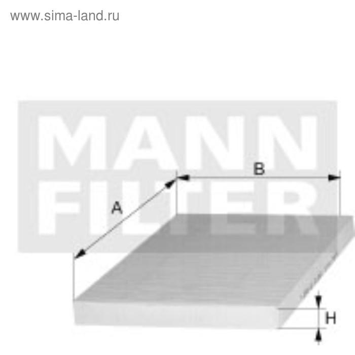 Фильтр салонный MANN-FILTER CU24013
