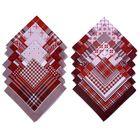 """Мужские носовые платки """"Этель"""" размер 30х30 см, (набор 12 шт,) цвет коричневый, рисунок МИКС"""