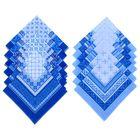 """Мужские носовые платки """"Этель"""" размер 30х30 см, (набор 12 шт,), цвет синий, рисунок МИКС"""