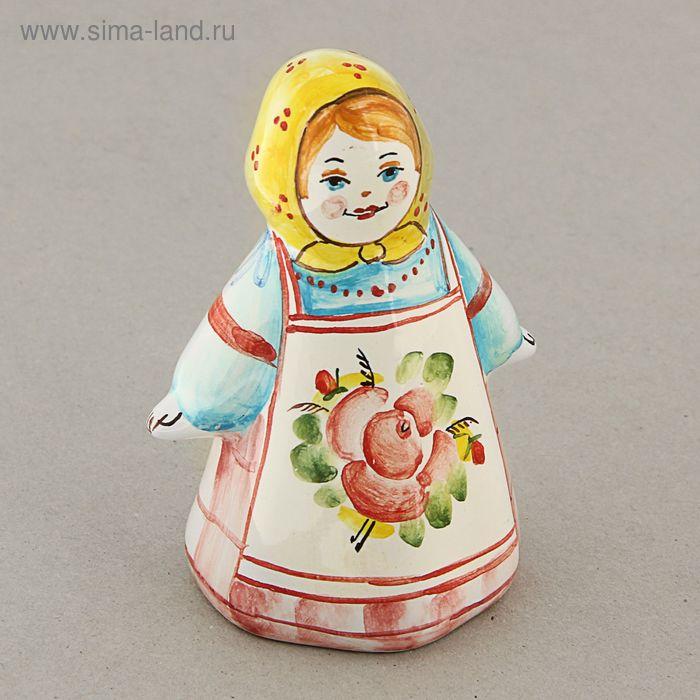 Сувенир-колокольчик «Алёнушка», ярославская майолика