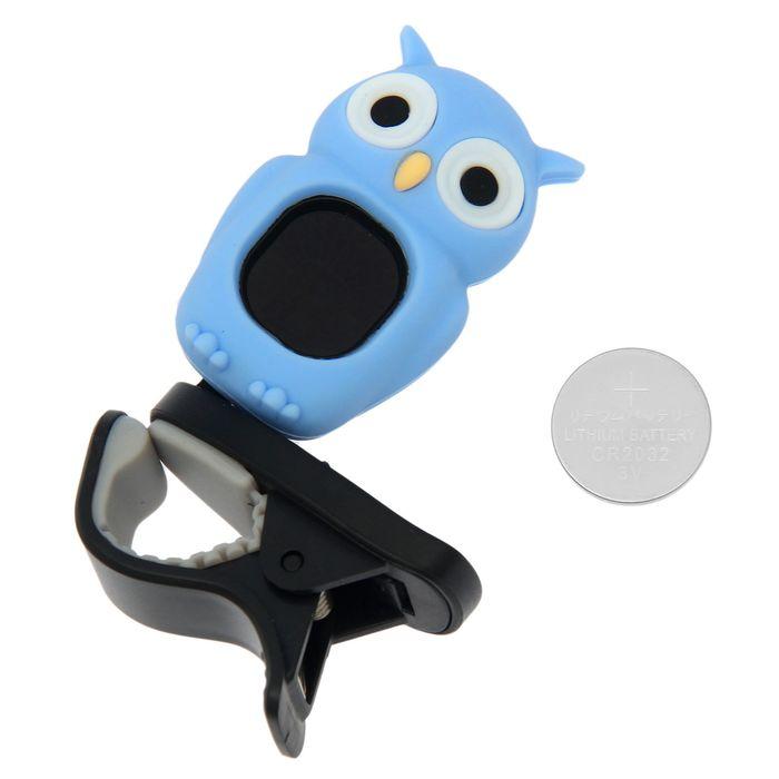 Хроматический тюнер-клипса G.A.S. OWL (Blue)