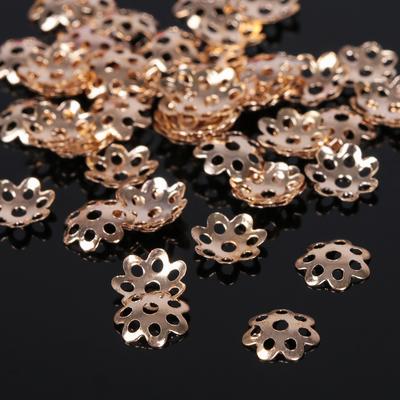 Шапочки для бусин (набор 100шт), СМ-002, цвет золото