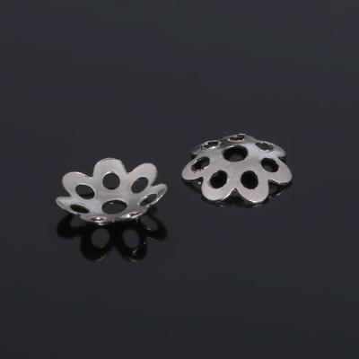 Шапочки для бусин (набор 100шт), СМ-008, цвет серебро