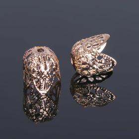 Шапочки для бусин (набор 20шт), СМ-051, 11х12 мм, цвет золото