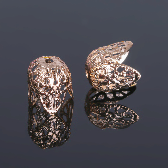 Шапочки для бусин (набор 20шт), СМ-051, цвет золото