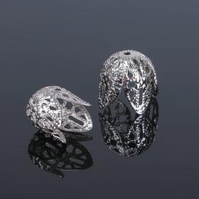 Шапочки для бусин (набор 10шт), СМ-051-1, 14х10 мм, цвет серебро