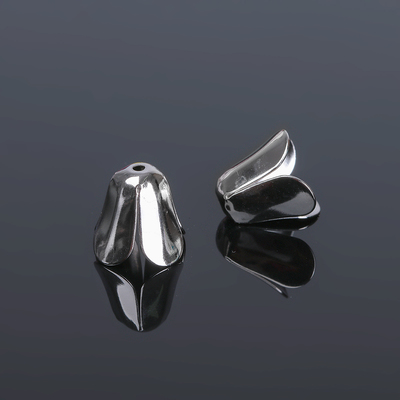 Шапочки для бусин (набор 20шт), СМ-053, цвет серебро