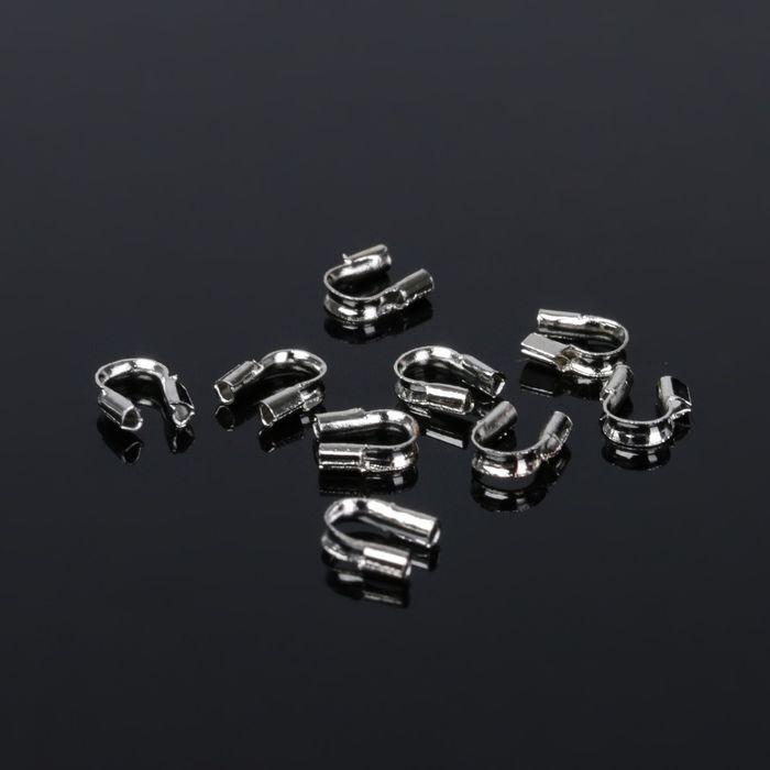 Протектор для защиты тросика 5*4мм (набор 50шт), цвет серебро