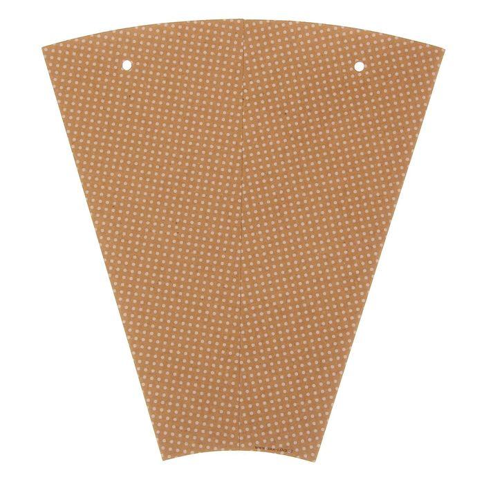 Конверт– конус для цветов «Горошек», 8 × 26,5 см