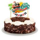 "Топпер в торт с гирляндой ""С Днем Рождения""пират"