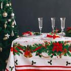 """Набор столовый Этель """"Рождественский бал"""" скатерть 180*150 см, салфетки 40*40 см 8 шт, хлопок 100%"""