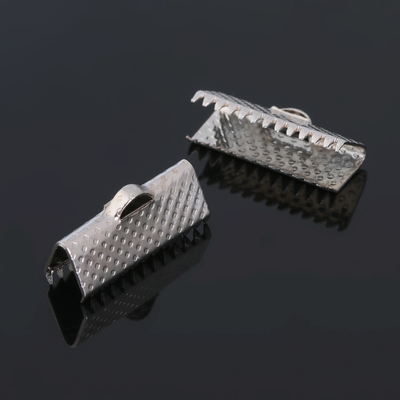 Зажим для ленты (набор 10шт) 16мм СМ-341, цвет серебро