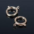 Замок-кольцо СМ-557-2, (набор 10шт) 1,6см, цвет золото