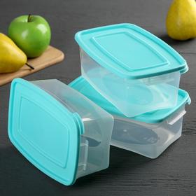Набор пищевых контейнеров «Каскад», 1 л, 3 шт, цвет МИКС