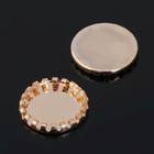 Основа-круг с закругленным краем 15мм (набор 20шт) СМ-794, цвет золото