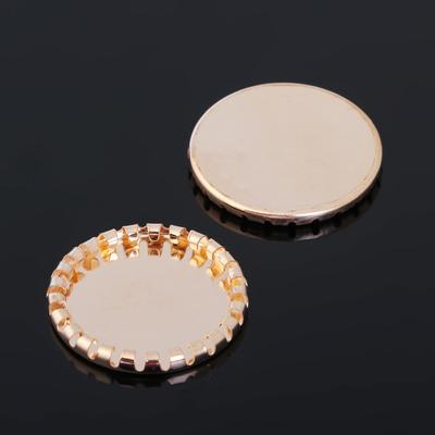 Основа-круг с закругленным краем 23мм (набор 10шт) СМ-796, цвет золото