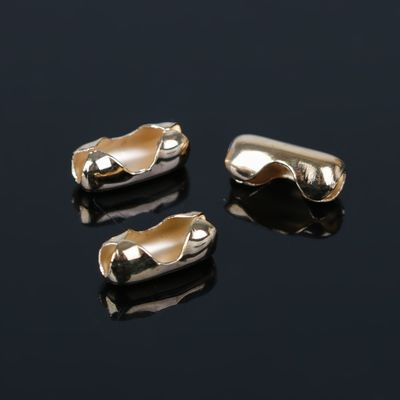 Застежки для шариковой цепочки СМ-853, (набор 10шт) 8мм, цвет золото