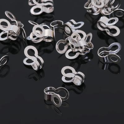 Зажим 2,4мм (набор 40шт) СМ-873, цвет серебро