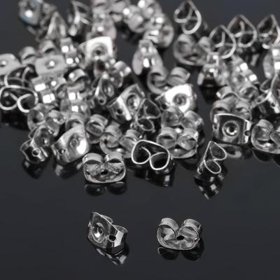 Заглушки для пусет СМ-905-1, (набор 50шт), цвет серебро