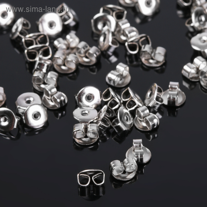 Заглушки для пусет 4,5мм (набор 50шт) СМ-905-2, цвет серебро