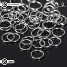 Кольцо соединительное 1*8мм (набор 50 гр, ±410 шт) СМ-982, цвет серебро