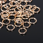 Кольцо соединительное 1,4*10мм (набор 50 гр, ±145 шт) СМ-984, цвет золото