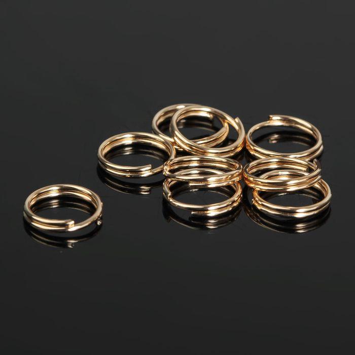 Кольцо соединительное двойное 0,9мм (набор 50 гр, ±310 шт) СМ-1028, цвет золото