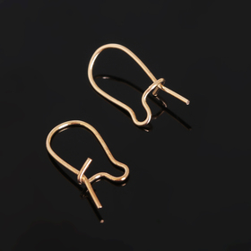 Earrings-loops of SM-1069 (set of 10pcs) 15mm, color gold
