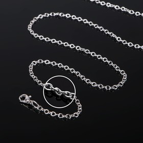 Chain with carabiner L50cm 0.5 (set of 5pcs) CM-1935, color silver.
