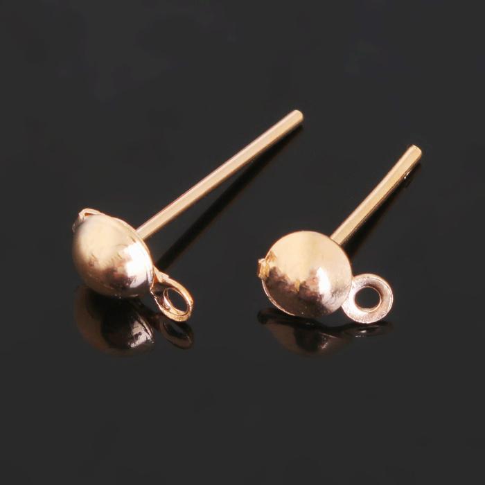 Основа для пусет с петелькой 13*5мм (набор 20шт) СМ-1115, цвет золото