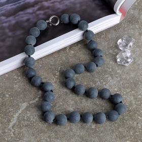 """Beads ball No. 12 """"Shungit"""", 45cm"""