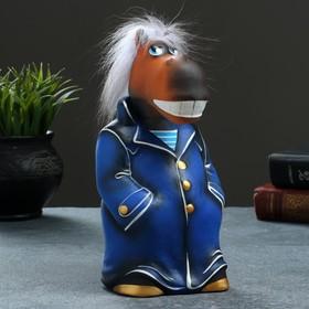 Копилка 'Конь в пальто' 22см, синий Ош