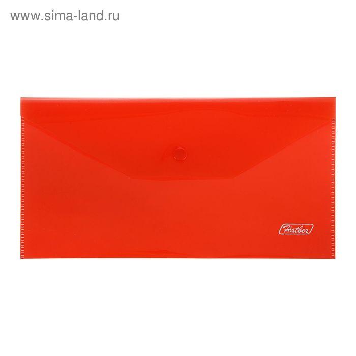 Папка-конверт на кнопке С6 180мкм, красная