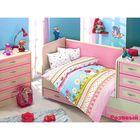 Постельное бельё GULUCUK детское, размер 100х150, 100x150, 35x45-2 шт., бязь 115 г/м², цвет розовый