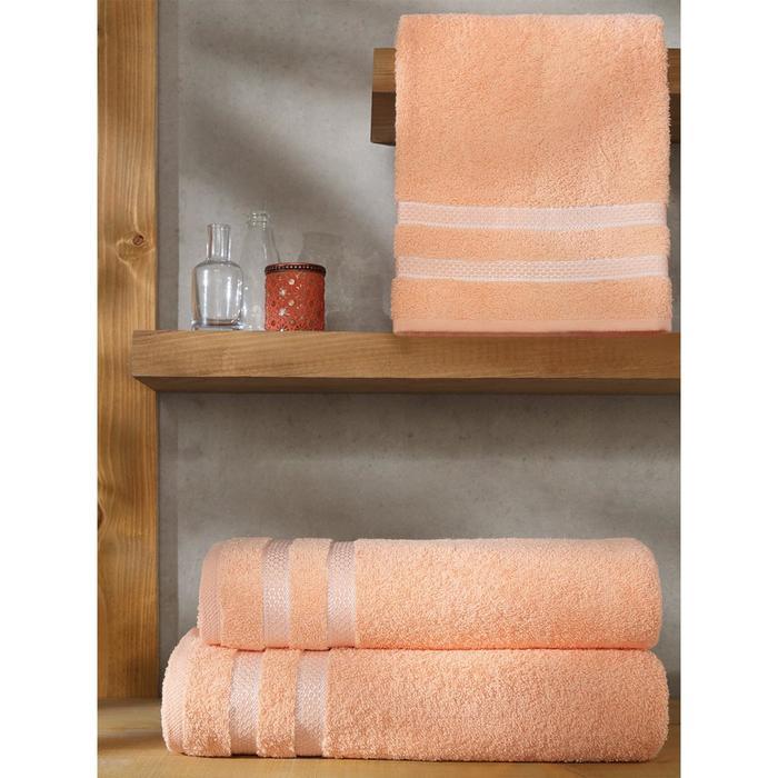 Полотенце Petek, размер 70 × 140 см розовый