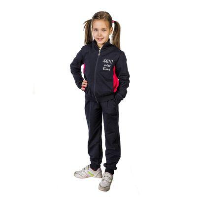 Костюм спортивный для девочки, рост 122 см (64), цвет синий/красный 33-КД-28Ш
