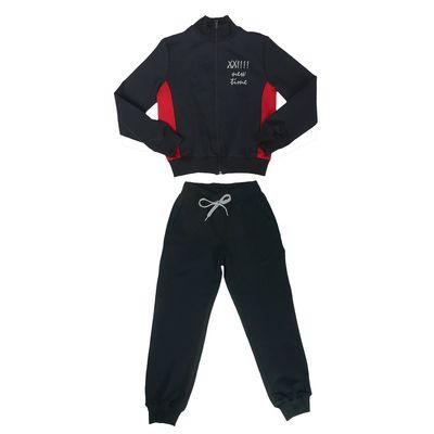 Костюм спортивный для девочки, рост 158 см (76), цвет синий/красный 33-КП-28Ш