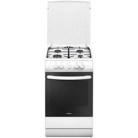 Плита Hansa FCMW53041, газовая, 4 конфорки, 69 л, электрическая духовка, белая
