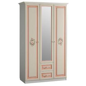 """Шкаф 3-створчатый с ящиками* """"Алиса"""" (белый/крем)"""