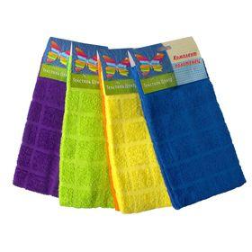Набор полотенец, размер 30х60 см-2 шт., цвет МИКС, 280 г/м2 Ош