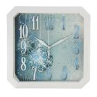 """Часы настенные, серия: Интерьер, """"Синие шары"""", белый обод, 29 см"""