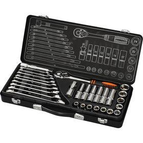 """Набор инструмента """"Кратон"""" TS-01, 1/2"""", головки 10-24 мм, 29 предметов"""