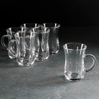 """Набор стаканов для чая с ручкой 145 мл """"Чай и Кофе"""", 6 шт"""