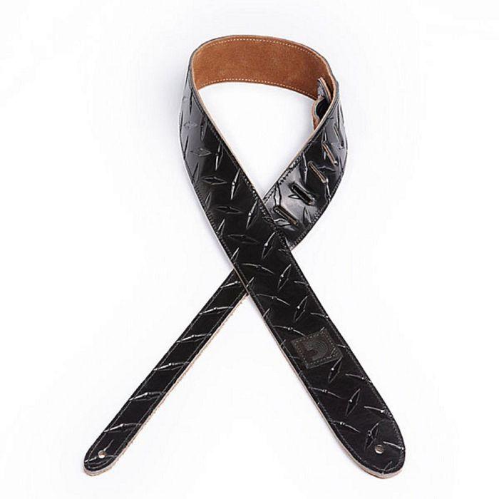 Ремень для гитары Planet Waves 20LDP01 Diamond Plate, кожаный, черный, тиснение