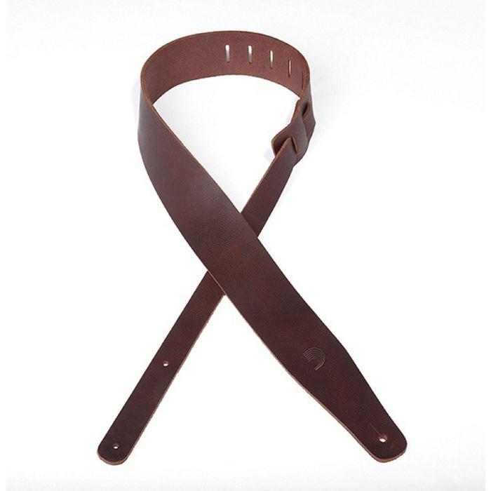 Ремень для гитары Planet Waves 25TL01-DX Thick Leather, кожаный, коричневый, 63,5мм
