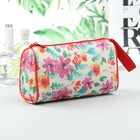 Simple cosmetic bag with zipper, 1 division, multi-colored