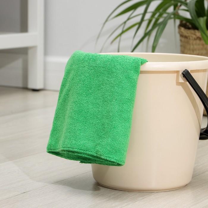 Салфетка из микрофибры 70×80 см, 220 г/м2, цвет МИКС