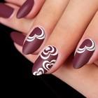 "Stencils for nail art ""Hearts"", 2"